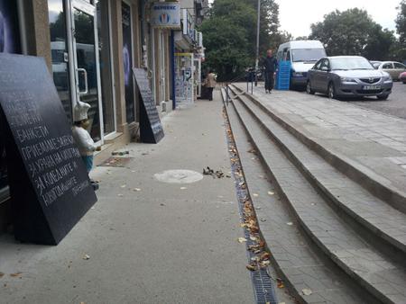 възстановяване на тротоар и стълбище бл.48, ж.к.Зорница - след